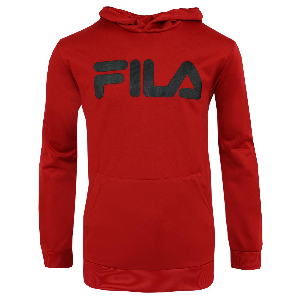 dfbfebb5 Details about Fila Boy's Classic Logo Hoodie Red/Black XL