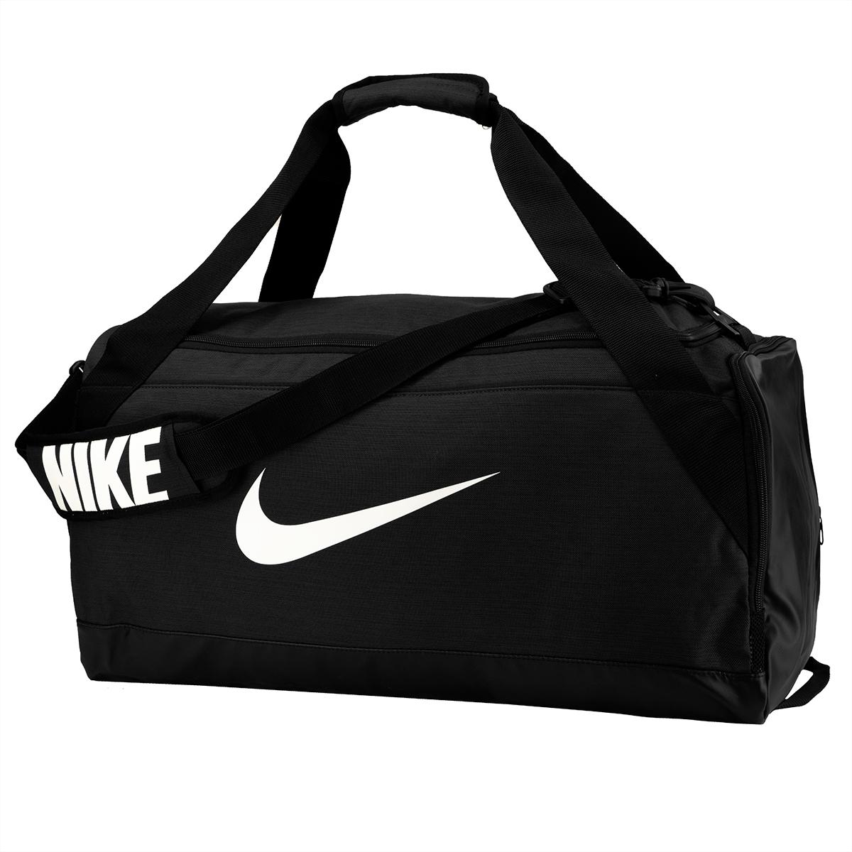 Nike Brasilia Medium Duffel Bag Black White  1e7125901e36b