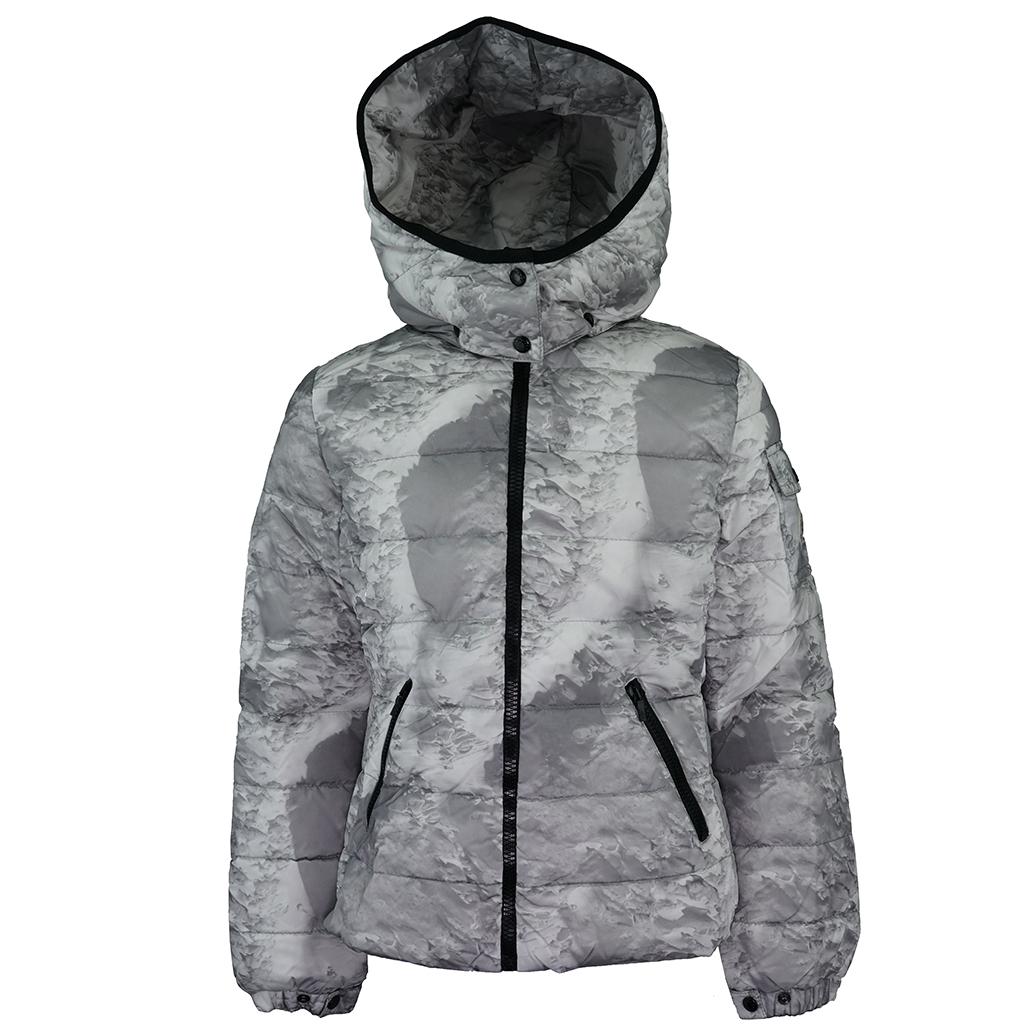 fd5004a4aeea Details about Moncler Girl s Down Bady Jacket White Grey design 10A