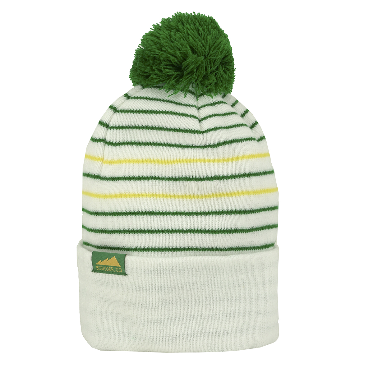 Details about Cirque Colorado Boulder Versatile Striped Beanie White Green f5ae063fb0c