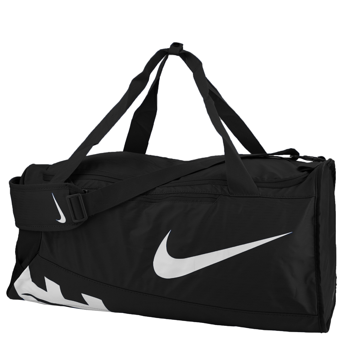 b302f0a9ab Details about Nike Alpha Adapt Crossbody Medium Duffel Bag Black/Black/White