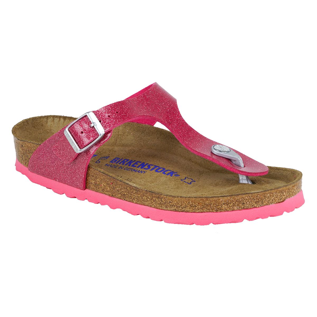 105855f1582 Birkenstock Gizeh Soft Footbed Birko-Flor Sandals Magic Galaxy Bright Rose  37