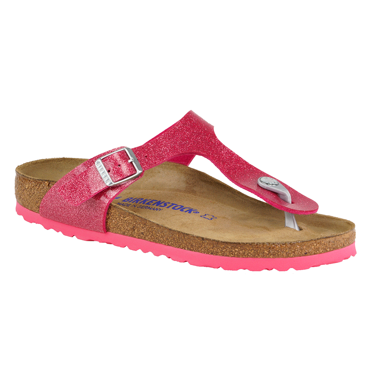10255d2629e Birkenstock Gizeh Soft Footbed Birko-Flor Sandals Magic Galaxy Rose 40 N
