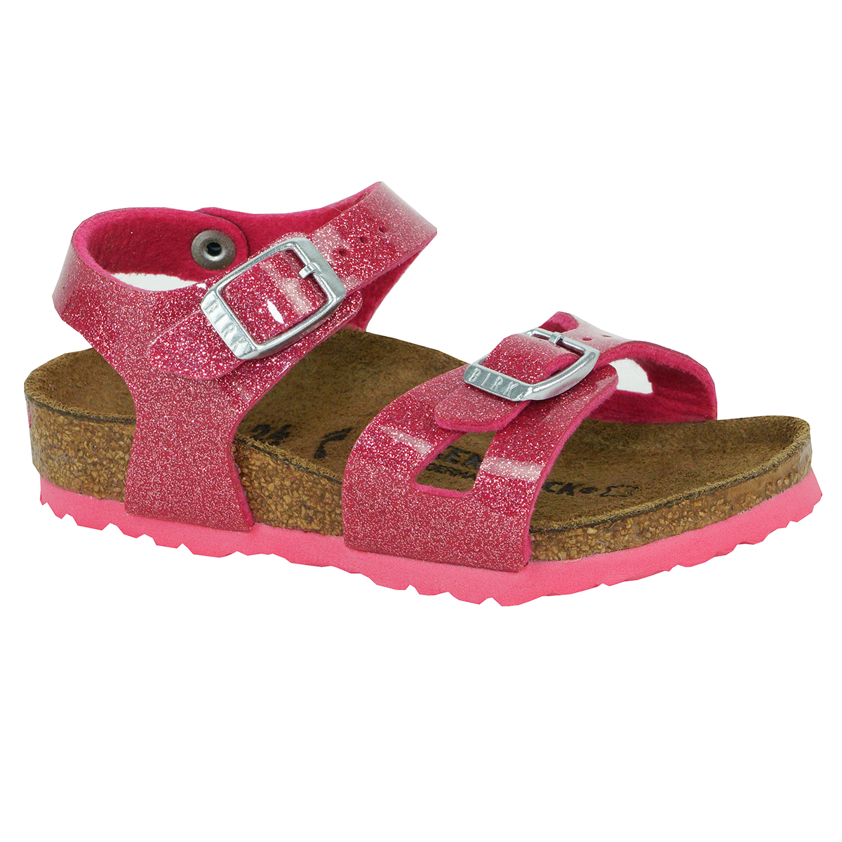 on wholesale release date cheap for discount Birkenstock Kids Rio Birko-Flor Sandals Magic Galaxy Bright Rose 24 N
