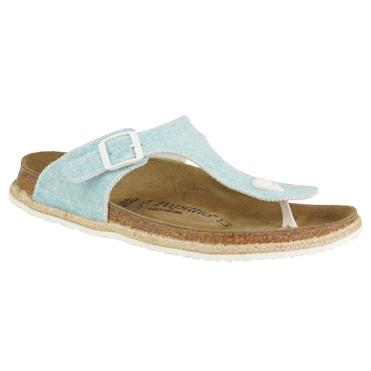 97fab45cf95 Details about Birkenstock Gizeh Papillio Textile Sandals Light Blue 38