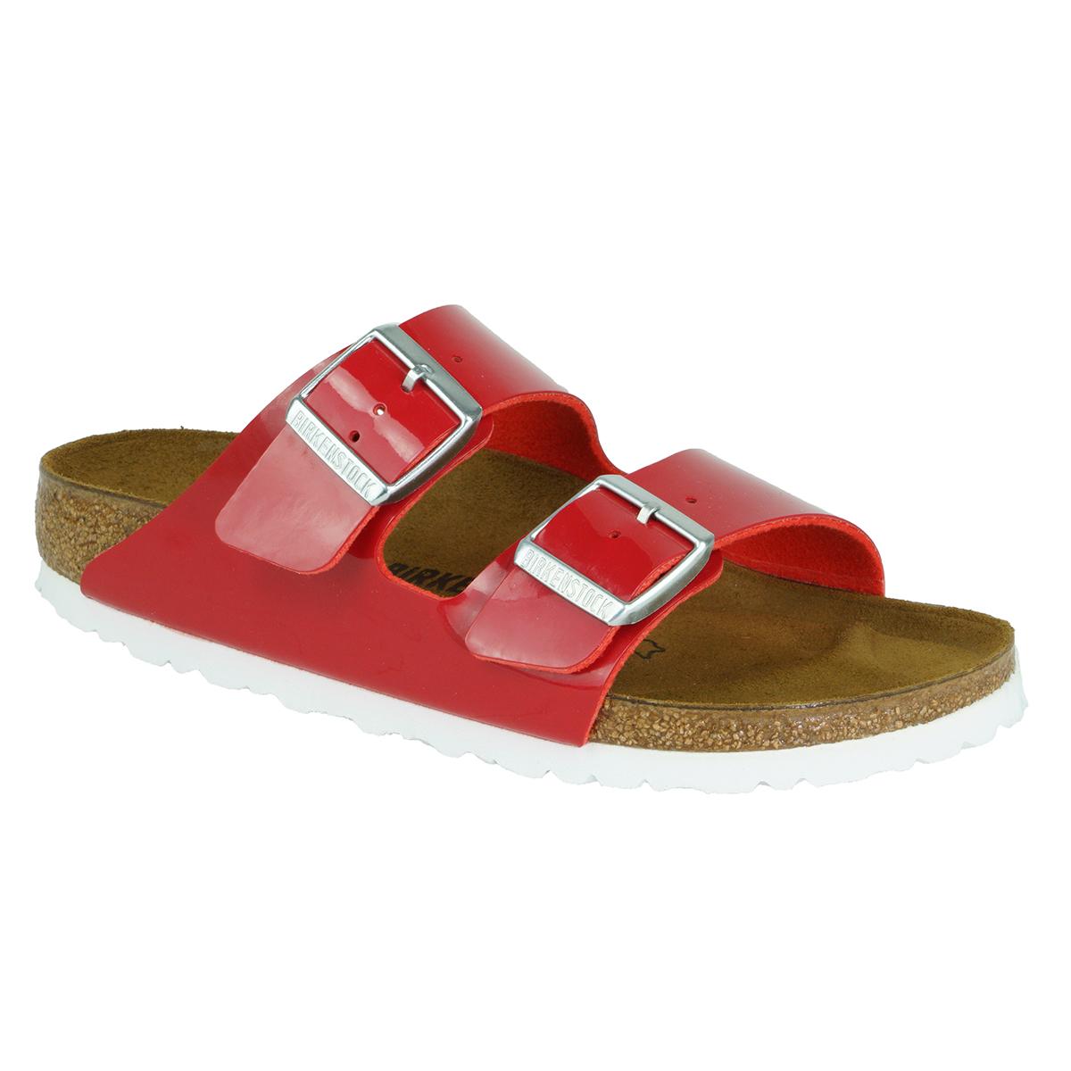 0bcffaa954d Birkenstock Arizona Birko-Flor Sandals Tango Red Patent 37 ...