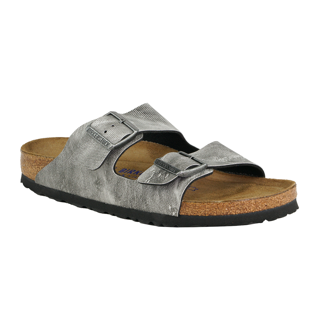 Details about Birkenstock Arizona Sandals Birko Flor Soft Footbed Jeans Washed Out Grey 41 N