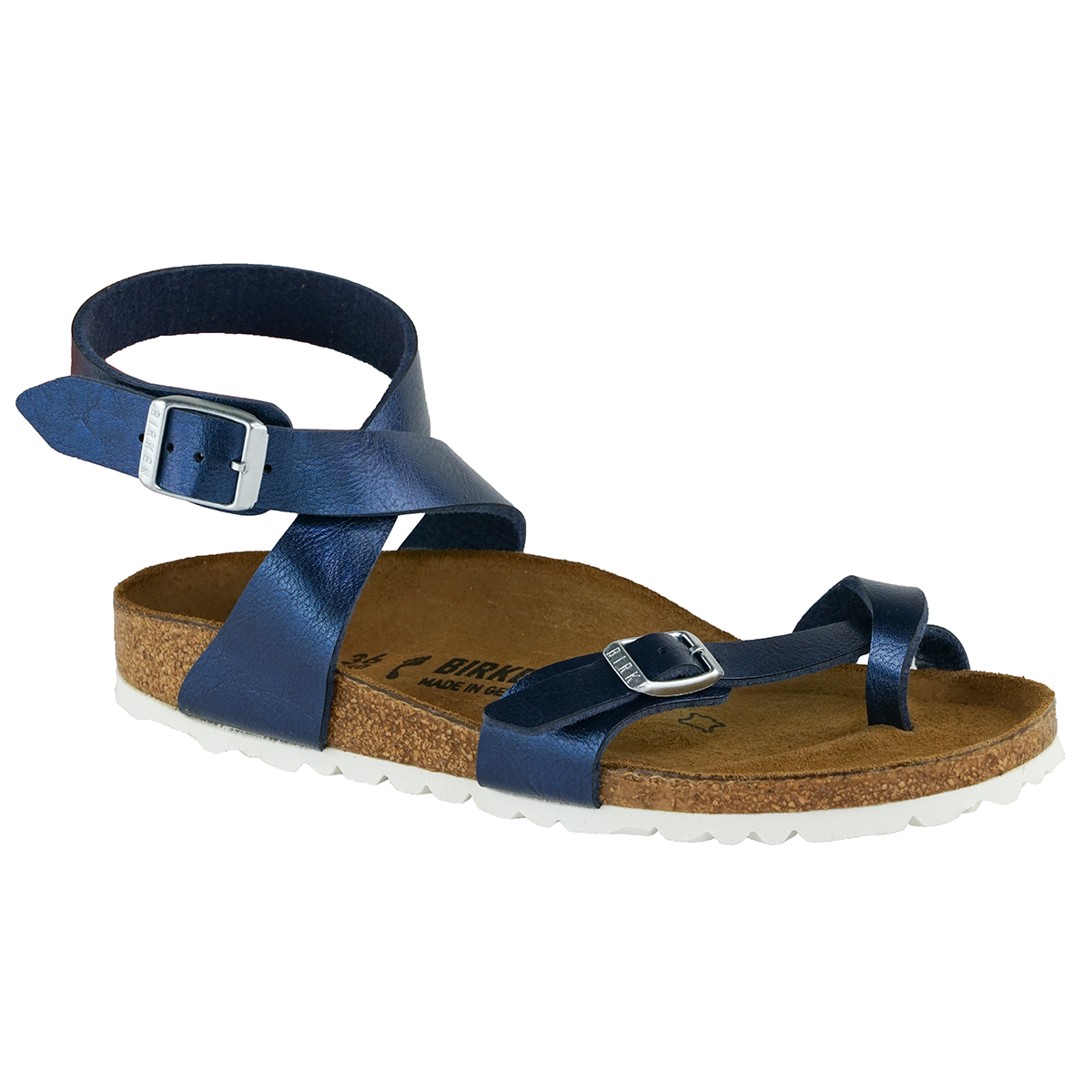 139bbf3b0db Details about Birkenstock Women s Yara Birko-Flor Sandals Graceful Sea 36