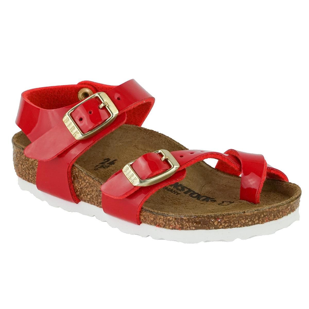 466c69da371b Details about Birkenstock Kid s Taormina Birko-Flor Patent Sandals