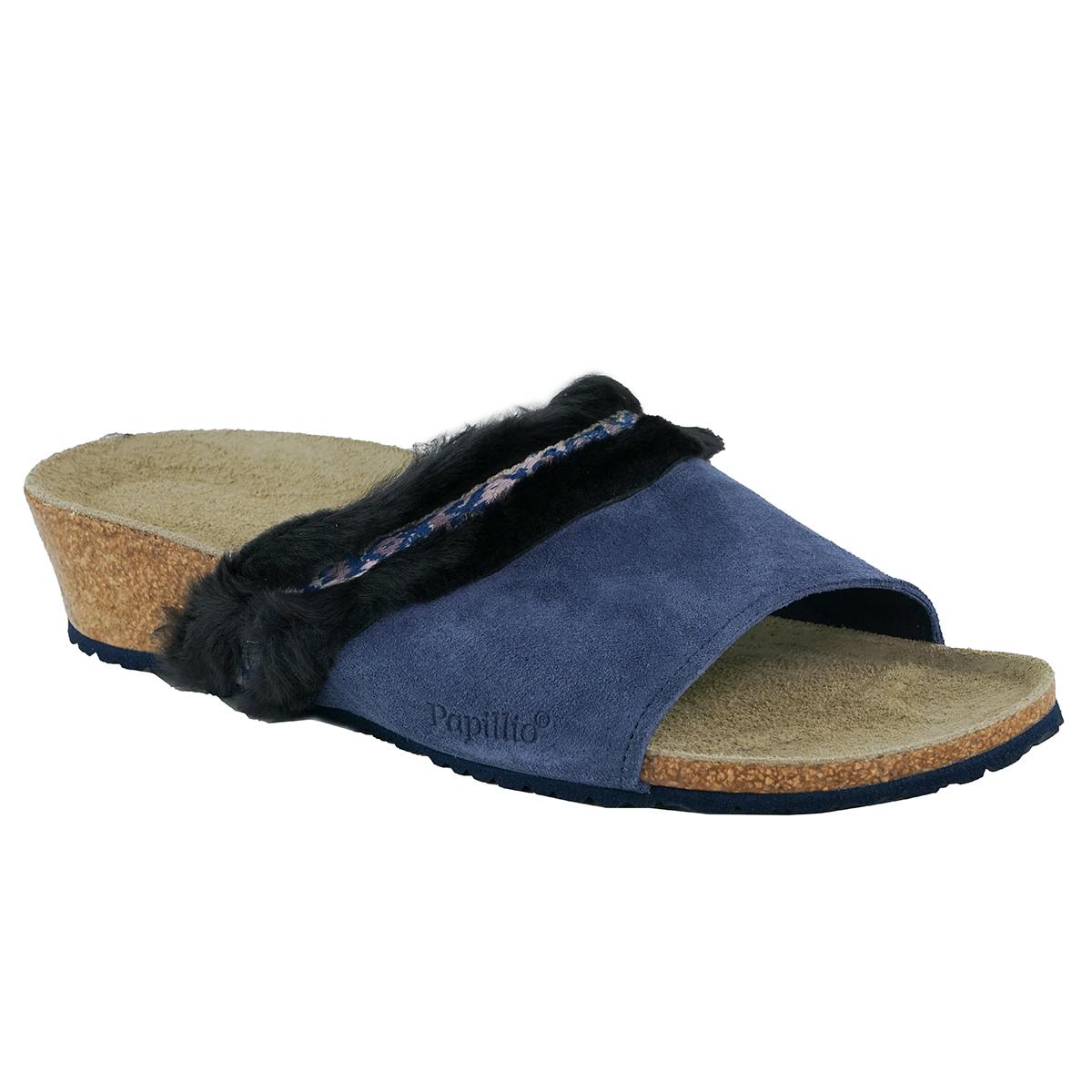 ca5d72e85370 Details about Birkenstock Papillio Women s Amber Suede Leather Fur Sandals