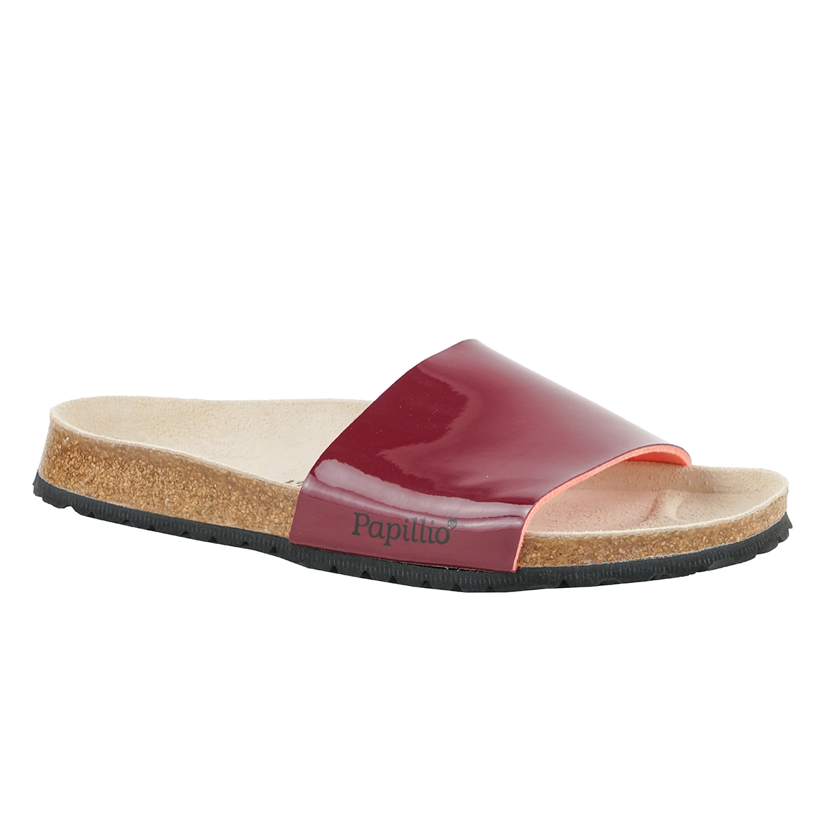 39f1b2261ae6 Details about Birkenstock PAPILLIO Cora Birko-Flor Two-Tone Patent Wine 42