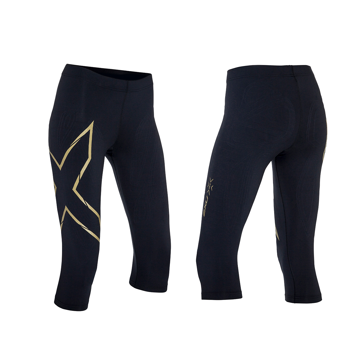19deeab3af931 Details about 2XU Women's MCS Alpine Compression 3/4 Tights Black/Gold L