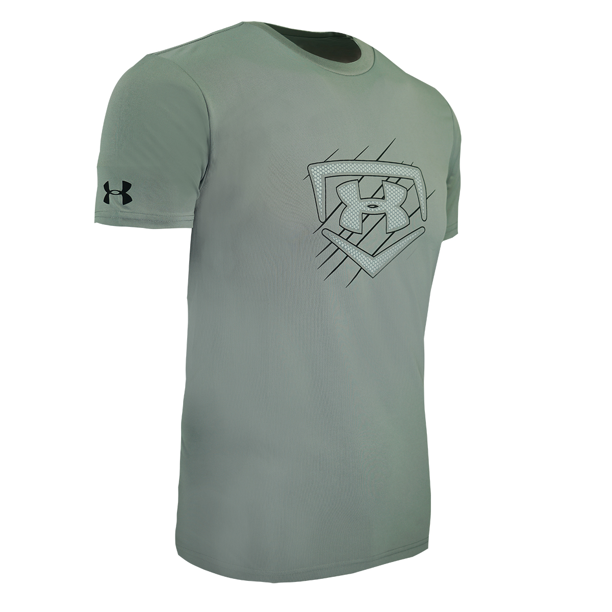 Under-Armour-Men-039-s-Fitted-Tech-Short-Sleeve-Logo-T-Shirt thumbnail 9