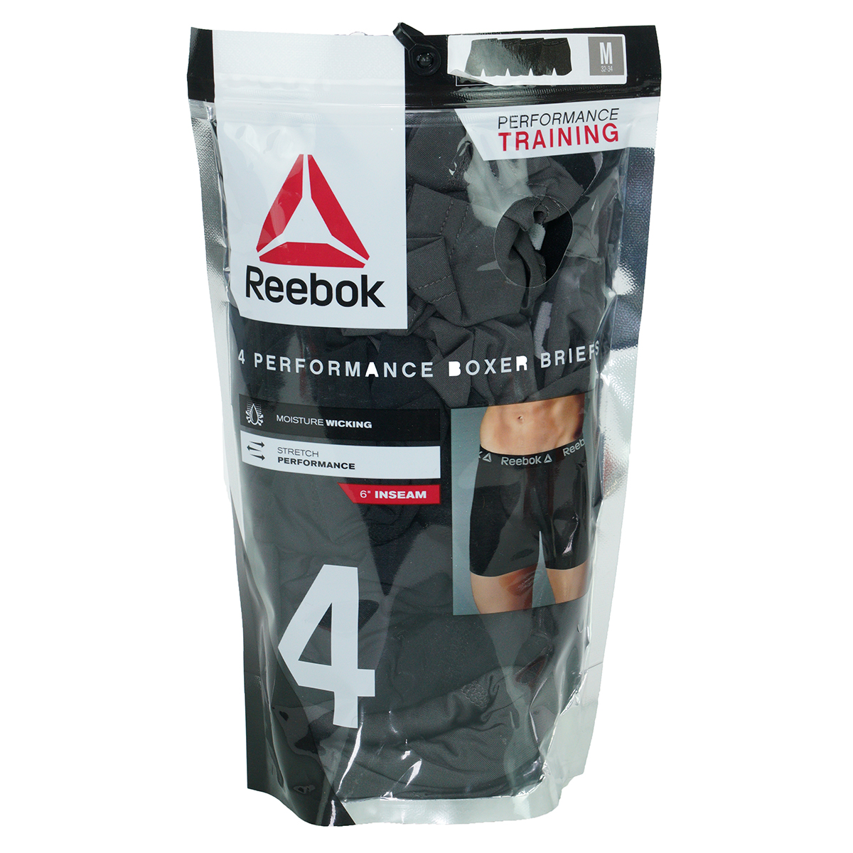 Reebok-Men-039-s-Performance-Boxer-Briefs-4-Pack thumbnail 9