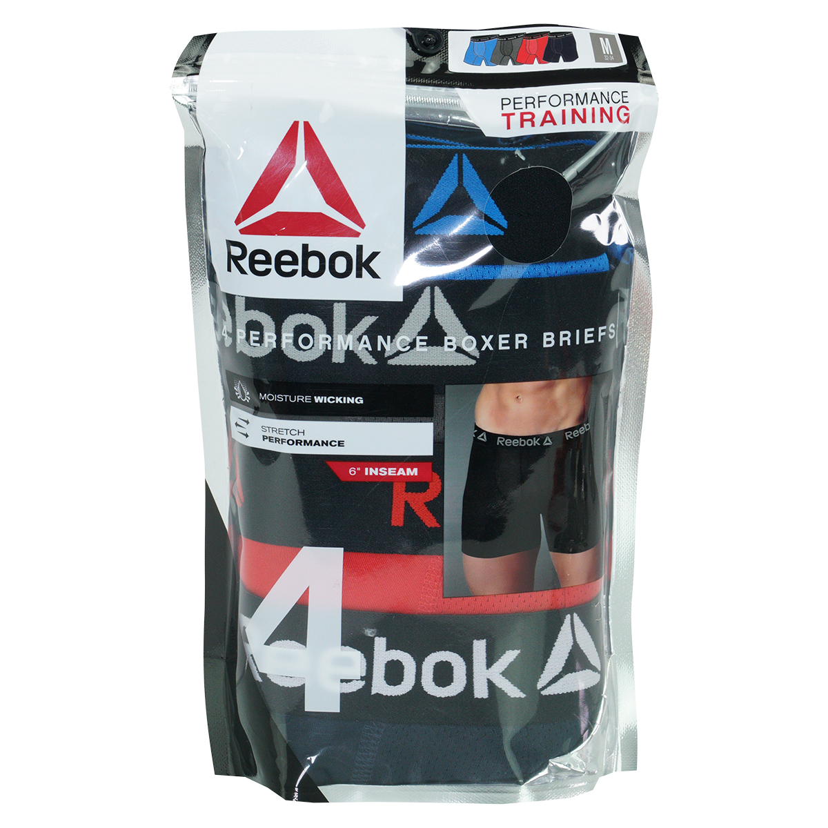 Reebok-Men-039-s-Performance-Boxer-Briefs-4-Pack thumbnail 17