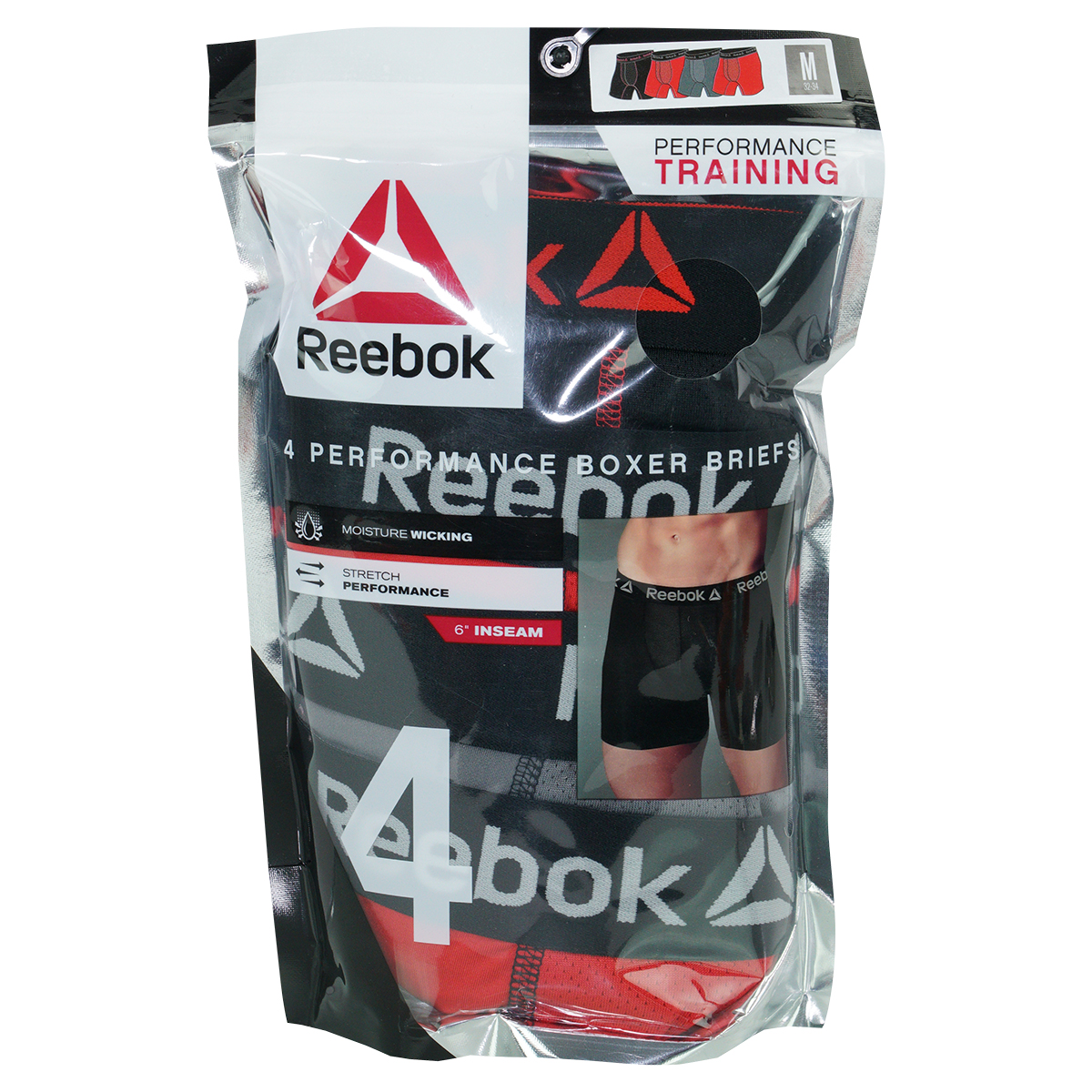 Reebok-Men-039-s-Performance-Boxer-Briefs-4-Pack thumbnail 15