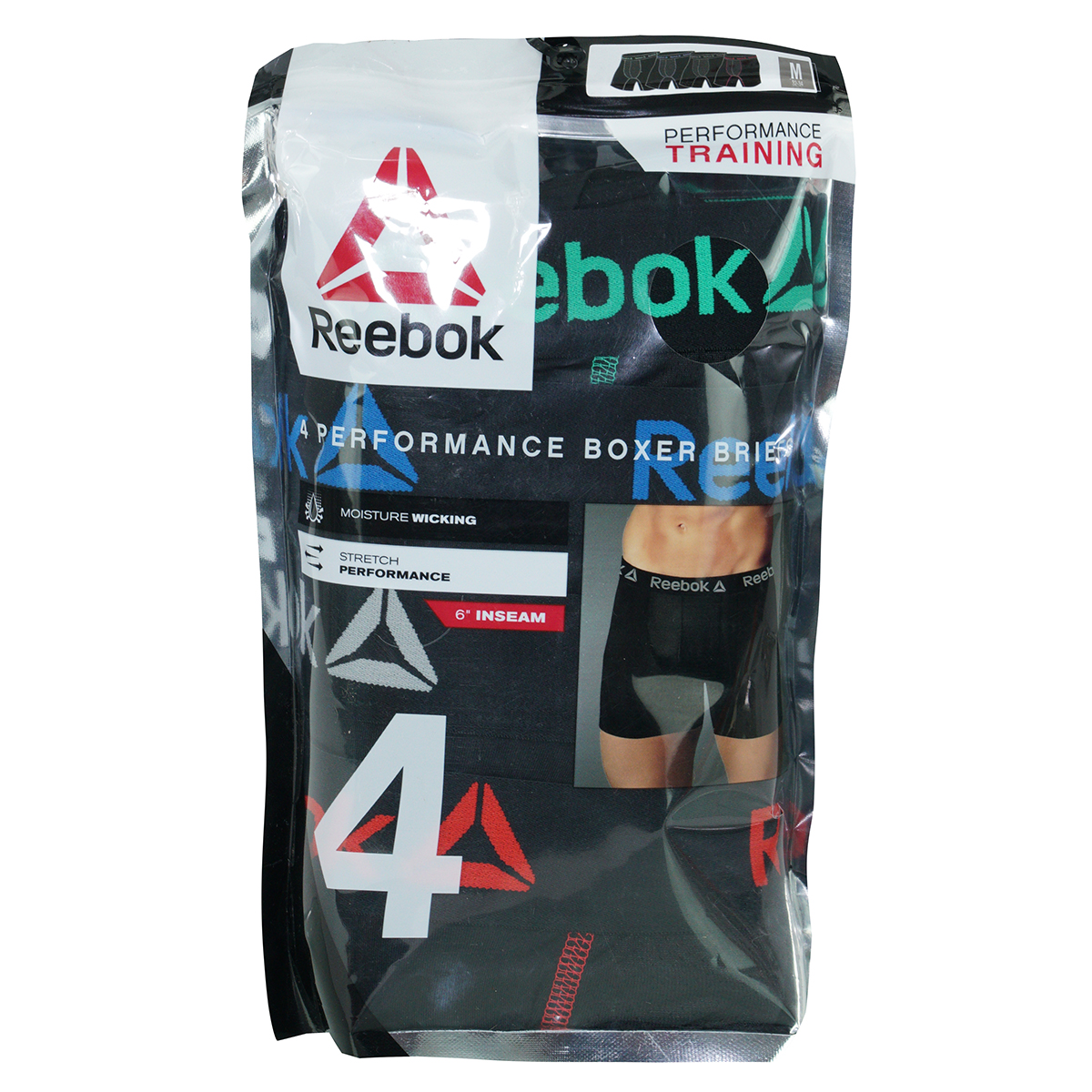 Reebok-Men-039-s-Performance-Boxer-Briefs-4-Pack thumbnail 5