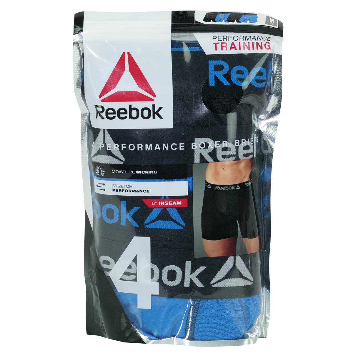 Reebok-Men-039-s-Performance-Boxer-Briefs-4-Pack thumbnail 7