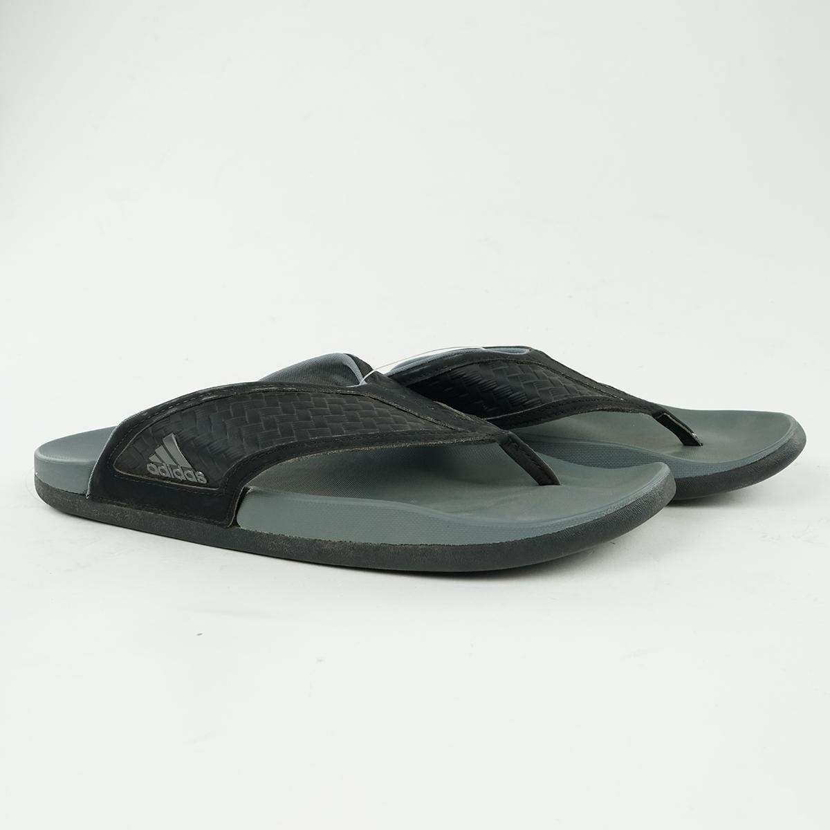 detailed look 546b4 1de18 Details about adidas Mens Adilette Flip Flops BlackGrey 10