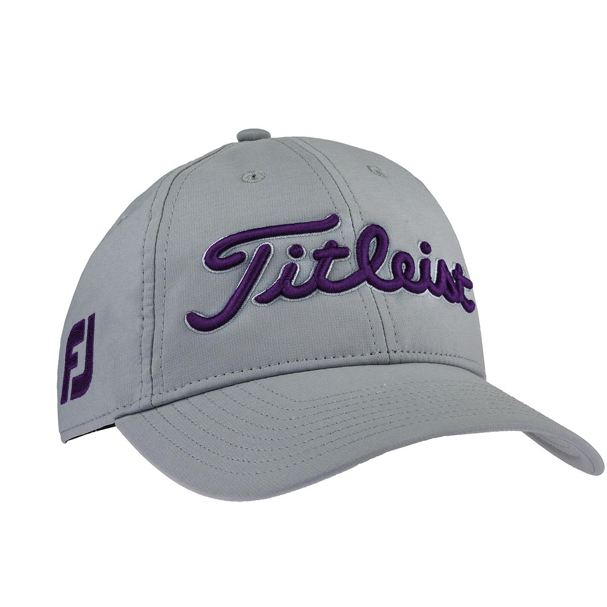 02e4ea6b6d0 Details about Titleist Men s Tour Performance Adjustable Hat Grey Purple