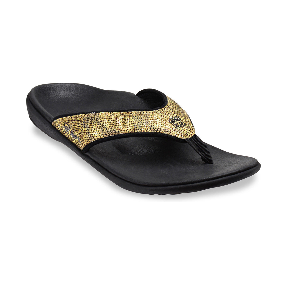 cf93db75be6 Details about Spenco Women s Python Sandals Gold 6