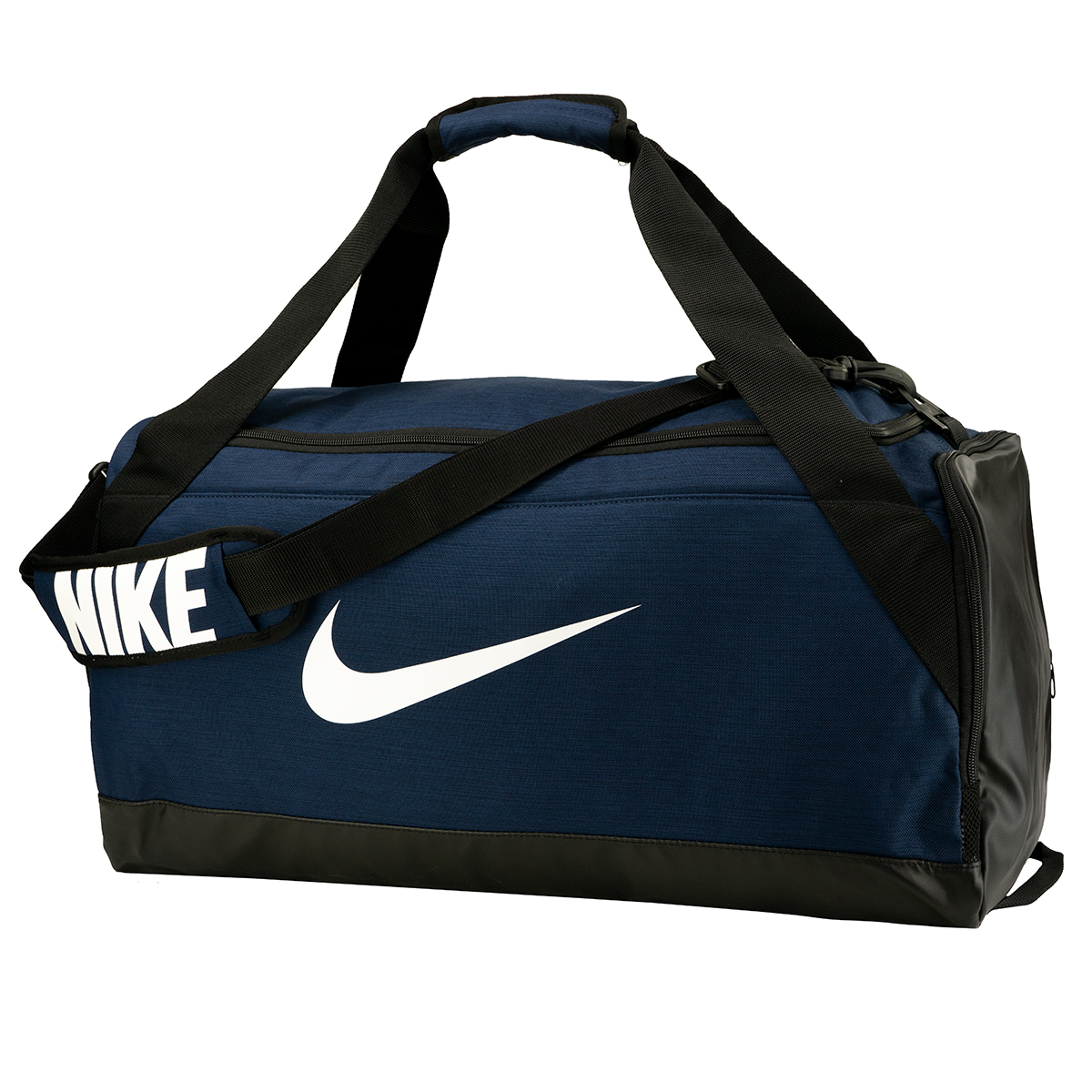Details about Nike Brasilia Medium Duffel Bag Navy Black White c2aa8b07d7c46