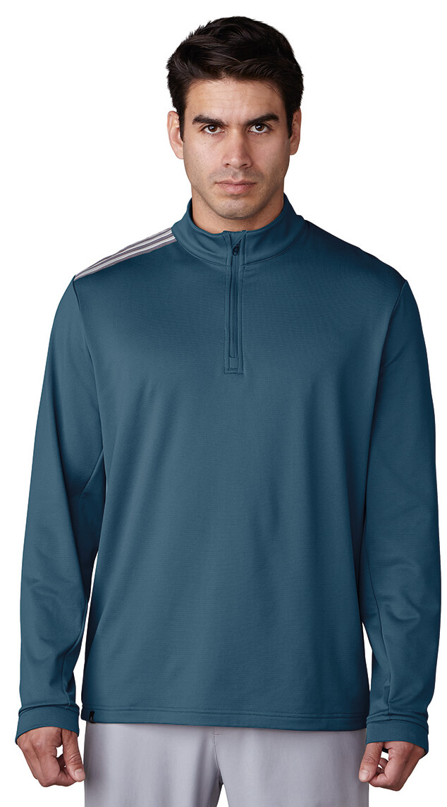 Adidas-3-Stripes-Classic-1-4-Zip-Golf-Pullover-Mens-2017-New-Choose-Color thumbnail 4