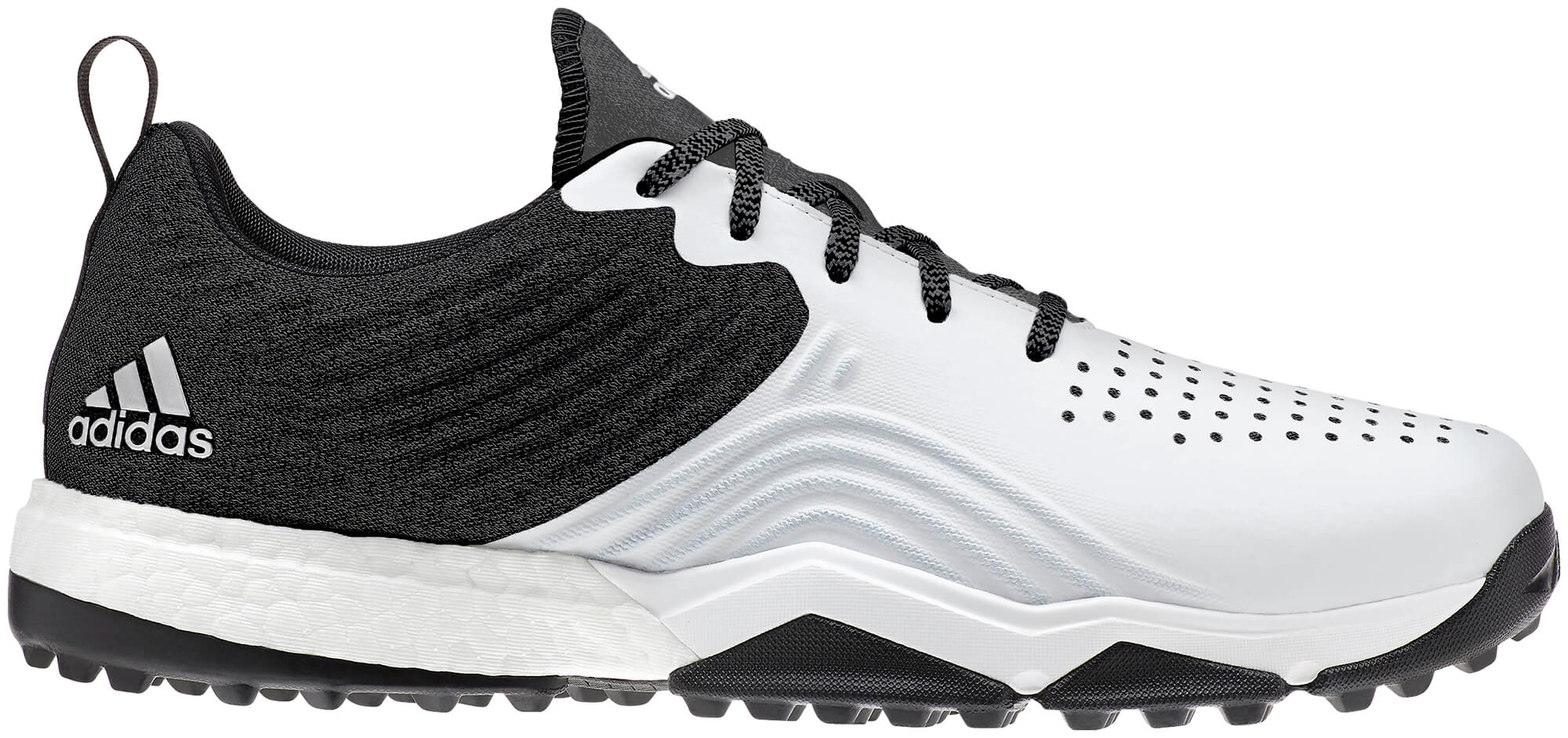 sports shoes 75699 fd1a1 Details about Adidas AdiPower 4orged S Golf Shoes BlackWhiteSilver Mens  New - Choose Size!