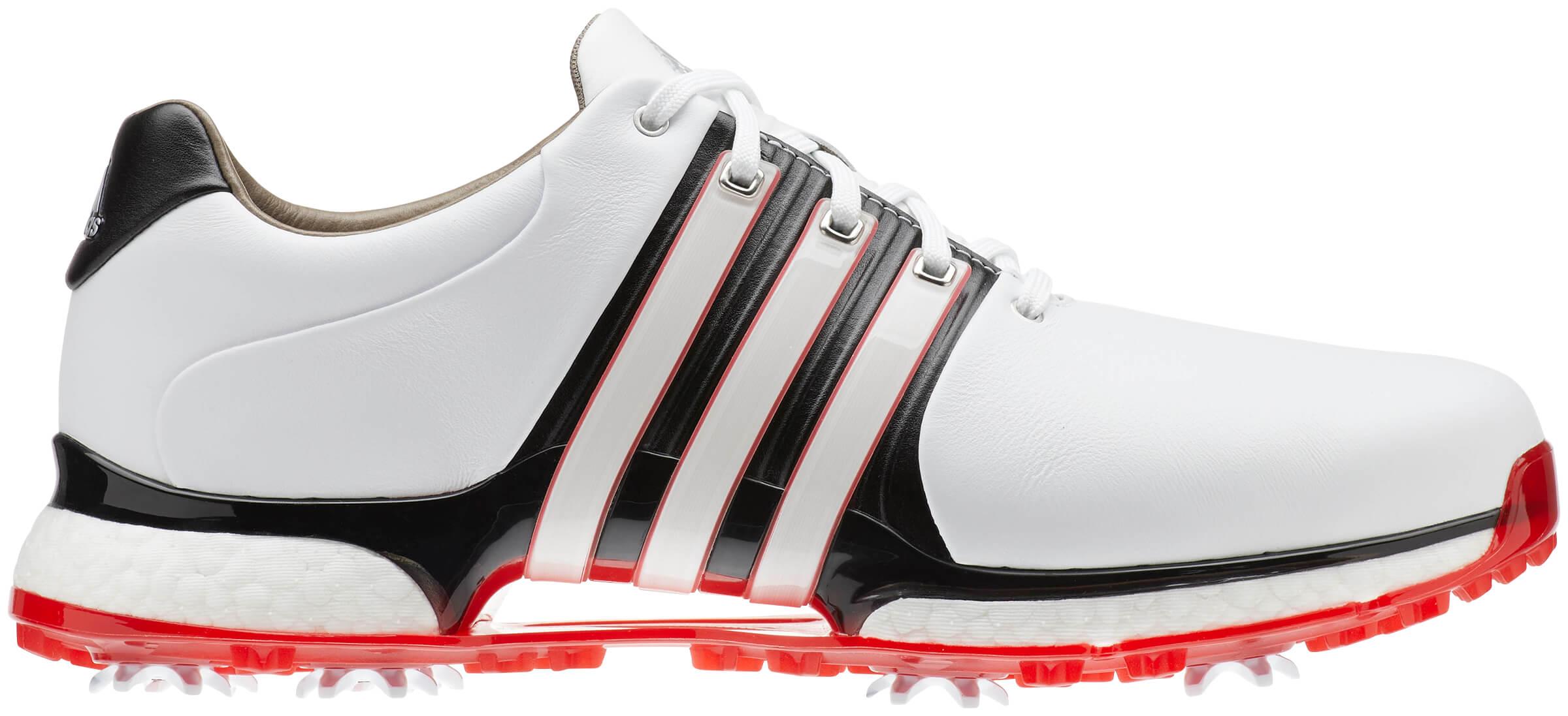 reputable site 3d612 4f210 Details about Adidas Tour 360 XT Golf Shoes White Black Scarlet Men s 2019  New - Choose Size!