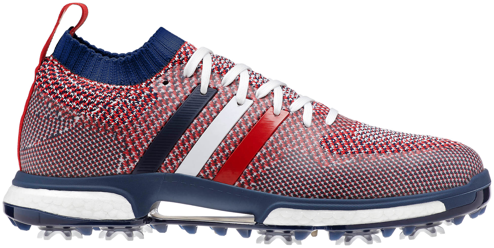 0349c1ecb Details about Adidas Tour 360 Knit Boost Golf Shoes B37772 Red Blue White  New