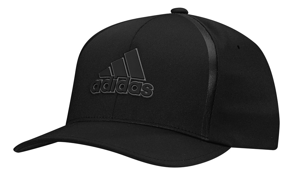 bbab73e26dd53 Adidas Tour Delta Textured Hat Golf Cap Flexfit Fitted BC1559 Black New 2017