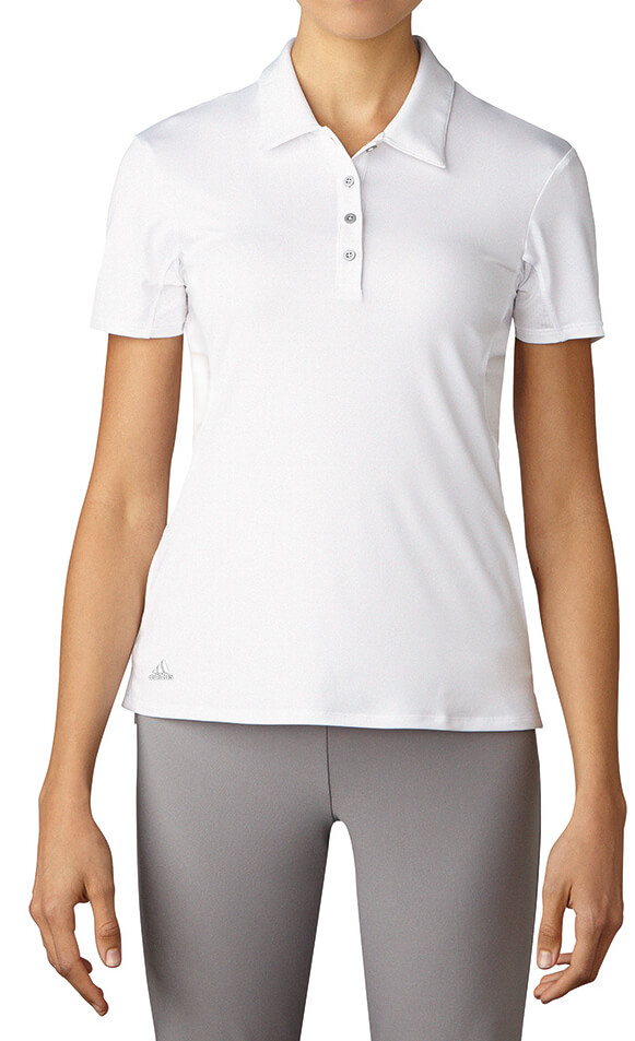 0f78aa8bba0 Details about Adidas 3 Stripes UPF +50 Short Sleeve Polo Women's Golf Shirt  Ladies New