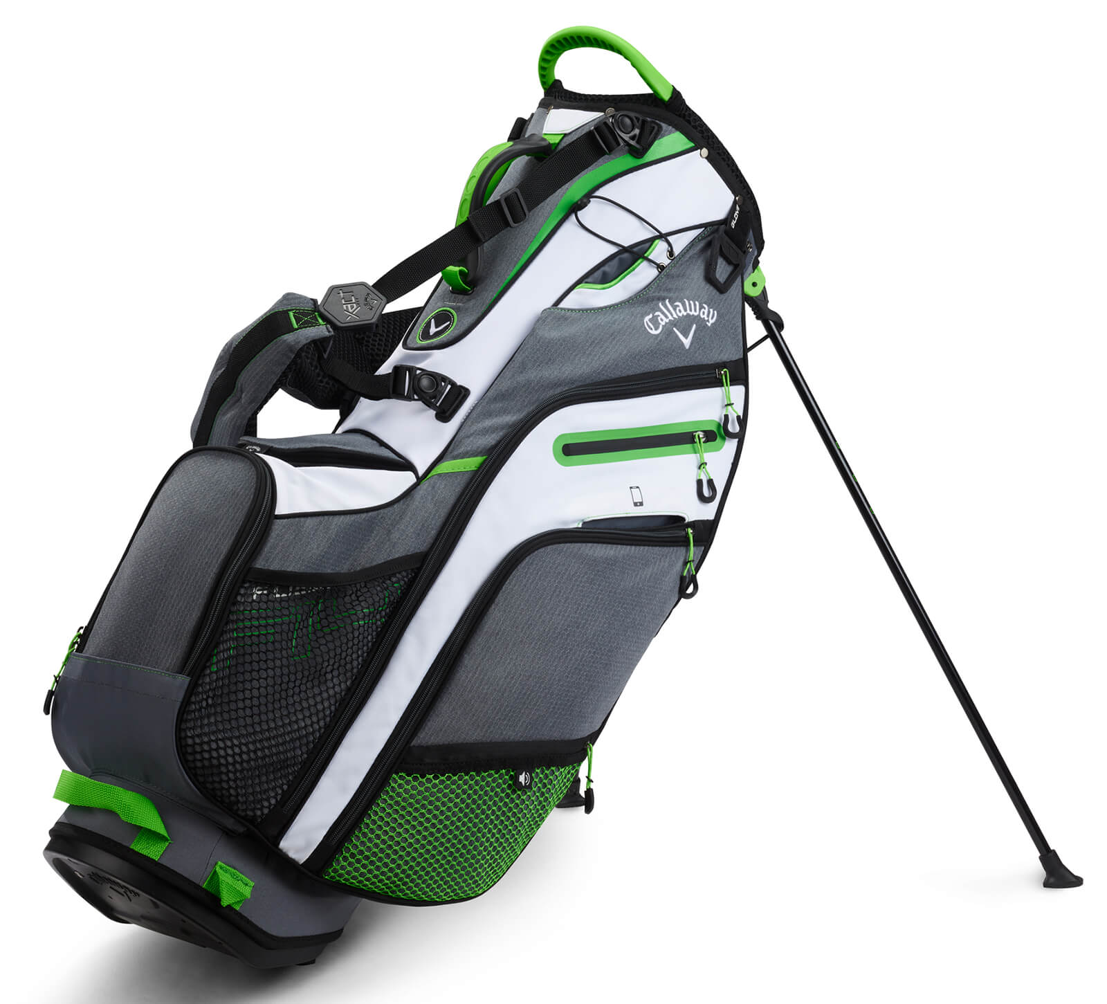online retailer special sales pre order Callaway Golf Fusion 14 Epic Flash Stand Bag White/Green/Grey ...