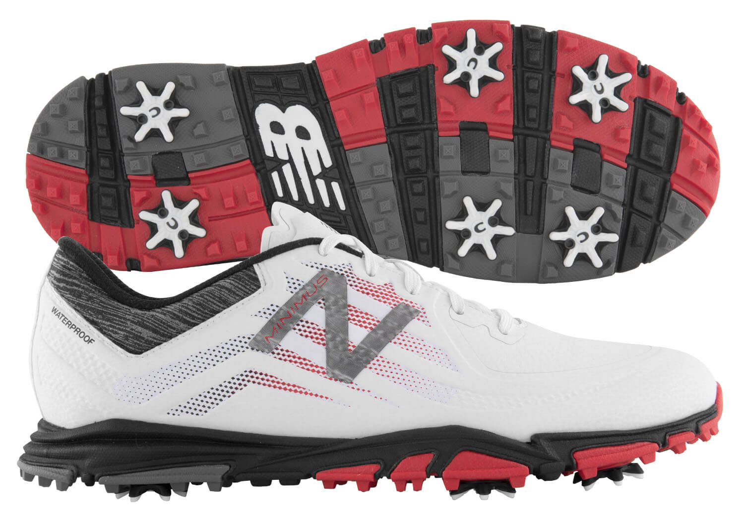 Details about New Balance Minimus Tour Golf Shoes NBG1007WRB White Red Black  2018 Men s New de9f8091de2