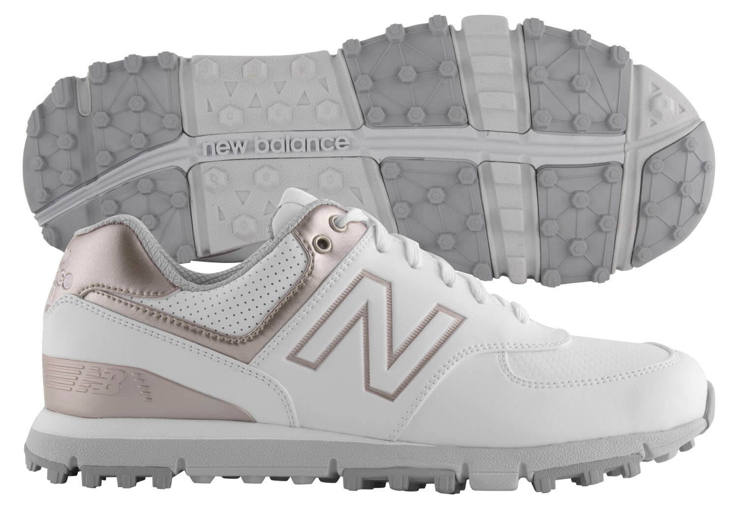 bcf230aceadc4 Details about New Balance Women s 574 SL Golf Shoes NBGW574WRG White Rose  Gold Ladies New