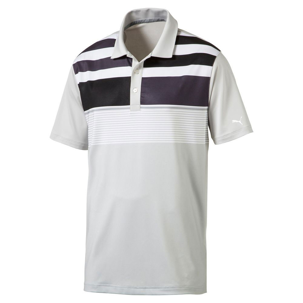 Puma-Road-Map-Asym-Polo-Cresting-573933-Men-039-s-New-Choose-Color-amp-Size