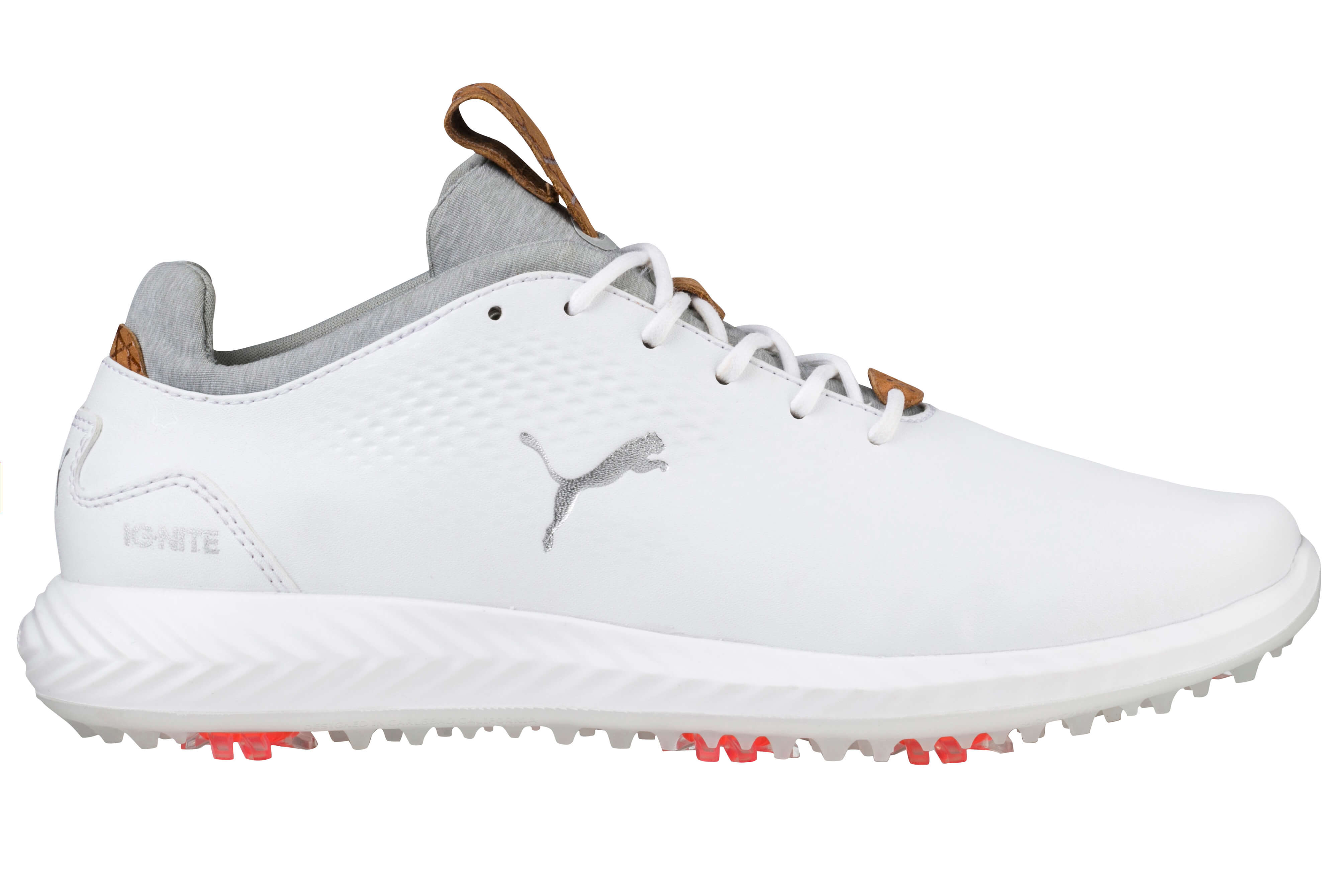 Details about Puma Ignite Pwradapt Junior Golf Shoes 190584 01 WhiteWhite New