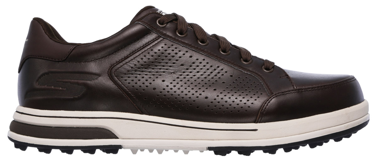 866c53983567 Details about Skechers Drive 2 LX Chocolate Golf Shoes 54514 CHOC Chocolate  Mens New