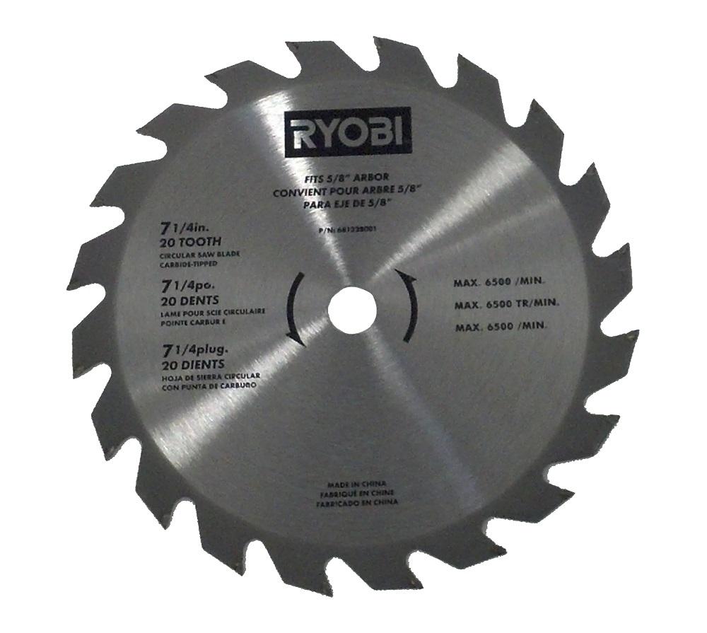 Ryobi 18v 7 14 20 tooth carbide tipped circular saw blade ryobi 18v 7 14 20 tooth carbide tipped circular saw blade csb143lzk csb142lz greentooth Image collections