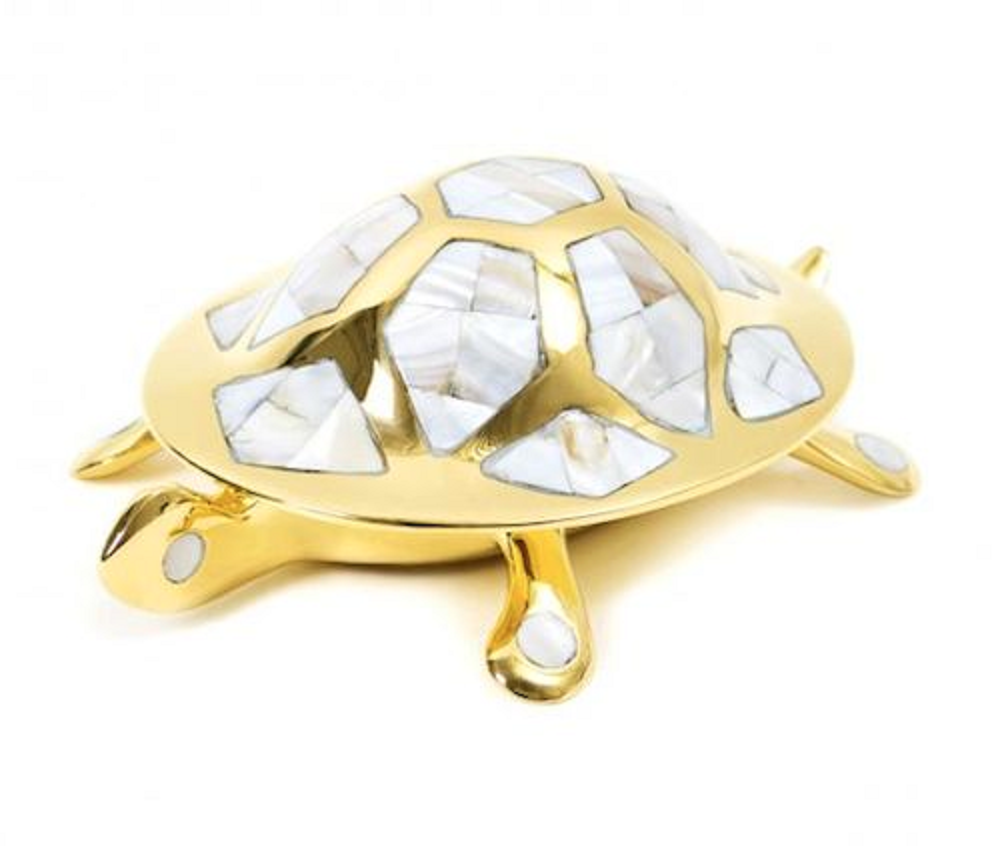 Jonathan Adler - Trinket Box - Abalone & Brass Turtle | eBay