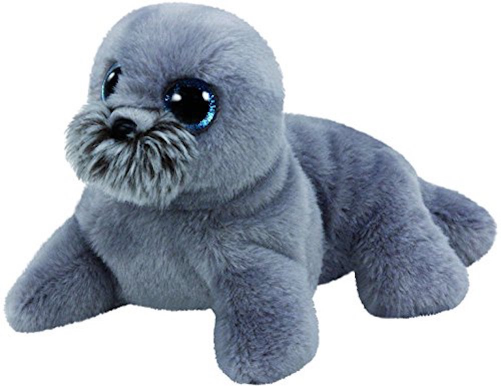 """Ty Beanie Originals Wiggy the grey Sea Lion 6‰/"""" new with tags"""