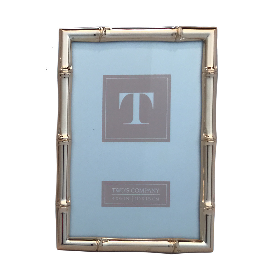 Two\'s Company - 4x6 & 5x7 Bamboo Frame Set - Rose Gold - Mirranme