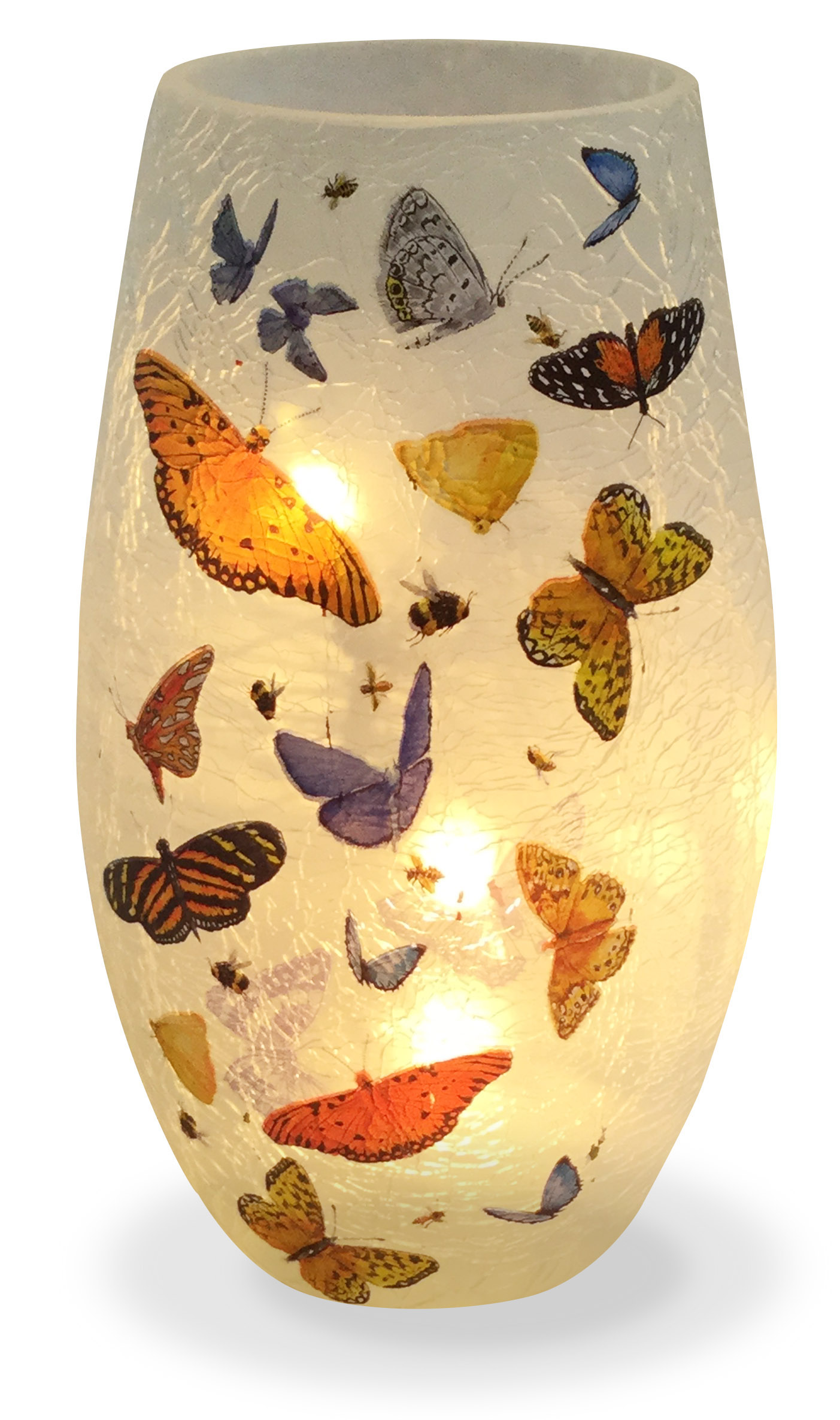 Stony creek frosted glass 7 vase butterflies mirranme reviewsmspy