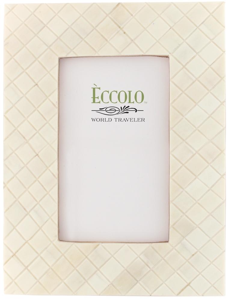Eccolo - 5x7 Frame - Darjeeling Carved Diamonds - Cream