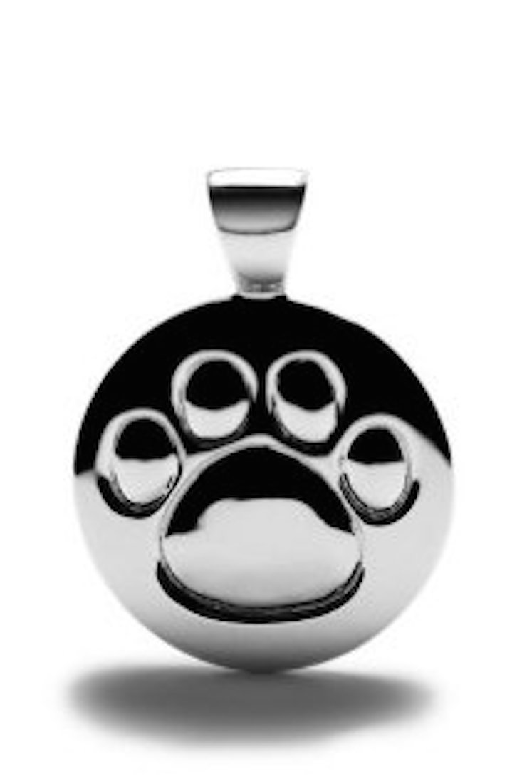 Sterling Silver Dog Paw Print Charm Small Lisa Welch