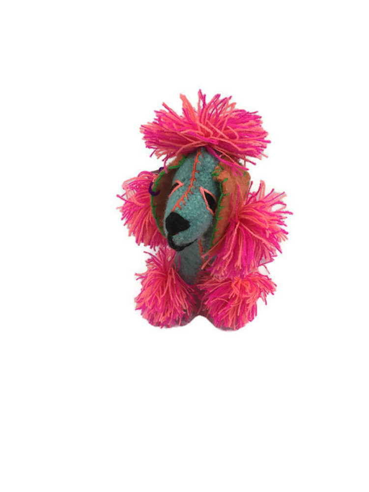 """Stuffed Colorful Wool Animal Twoolies 6/"""" Tall Lion Small"""