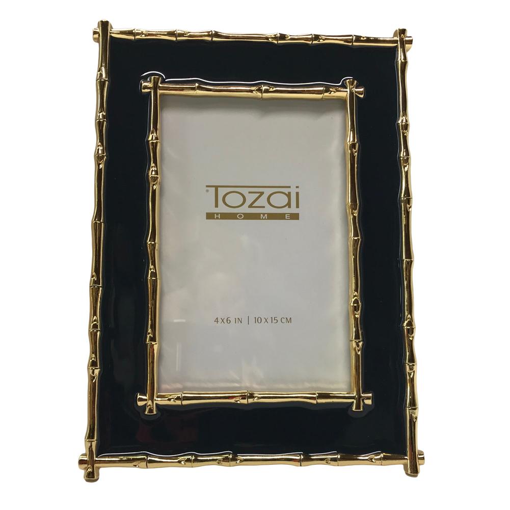 Tozai Home - 4x6 Brynn Bamboo Frame - Navy & Gold 635648709499 | eBay