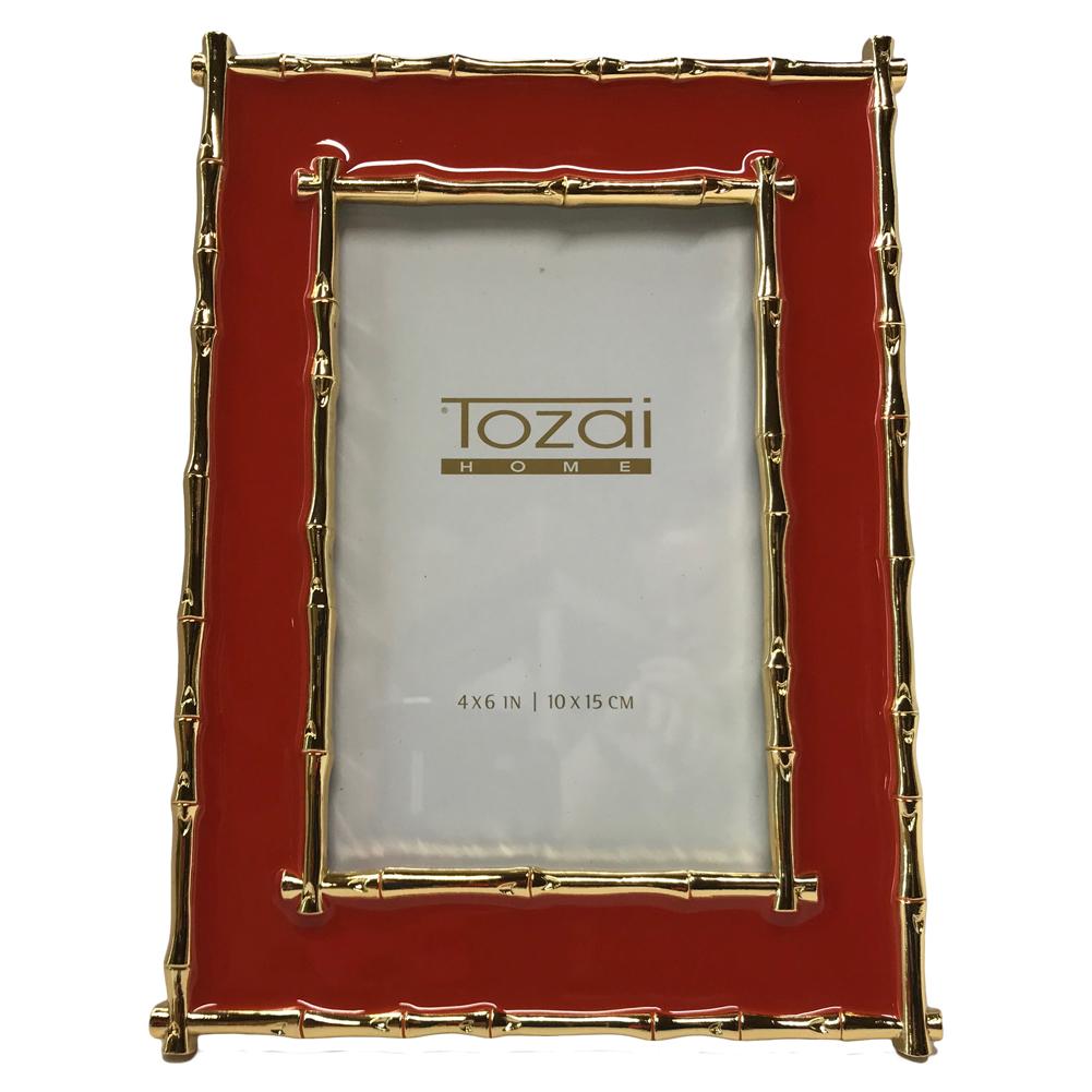 Tozai Home - 4x6 Brynn Bamboo Frame - Coral & Gold 635648709505 | eBay