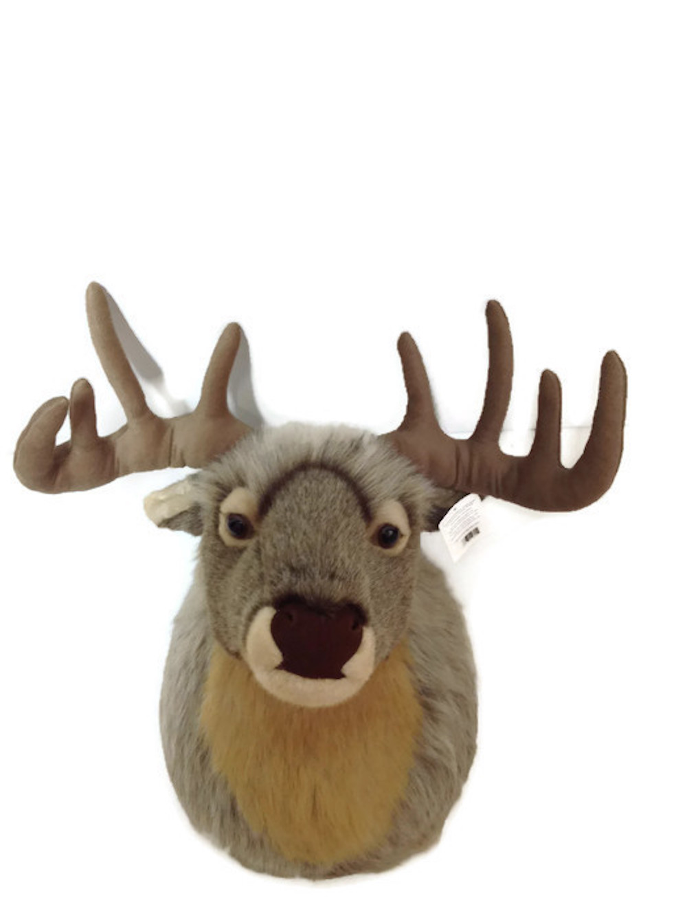wild republic stuffed animal wall mount big head deer. Black Bedroom Furniture Sets. Home Design Ideas