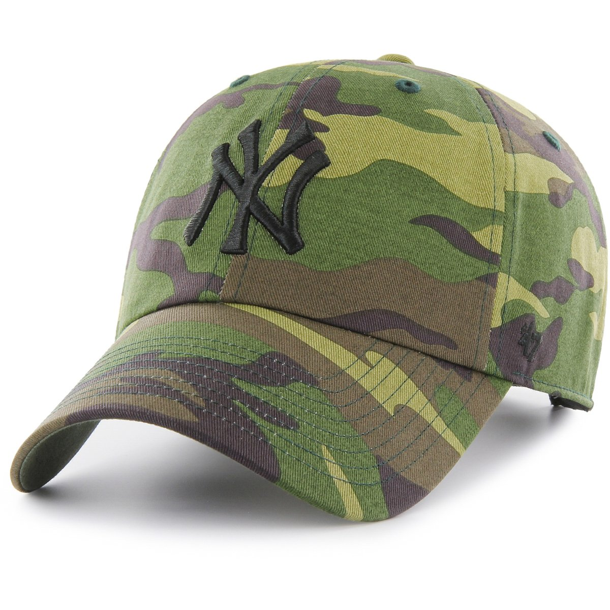 e9153f69fc0 Details about 47 Brand Adjustable Cap - MLB New York Yankees wood camo